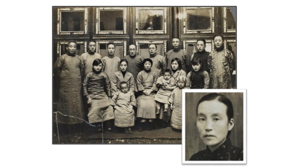 Collage of an 18th century Korean family