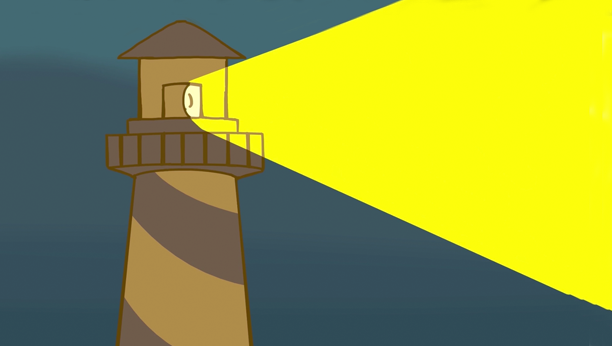 Animation still of a lighthouse