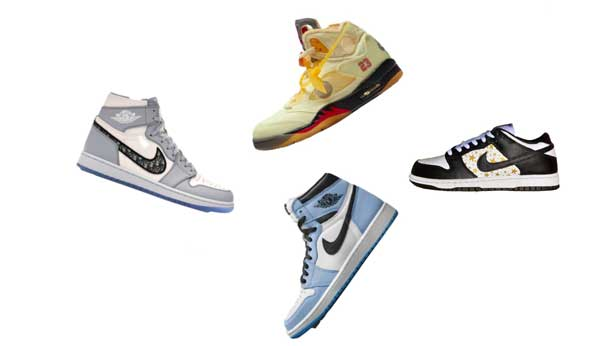 A graphic image of four sneakers