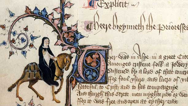 A page from the Illustrated manuscript, The Canterbury Tales